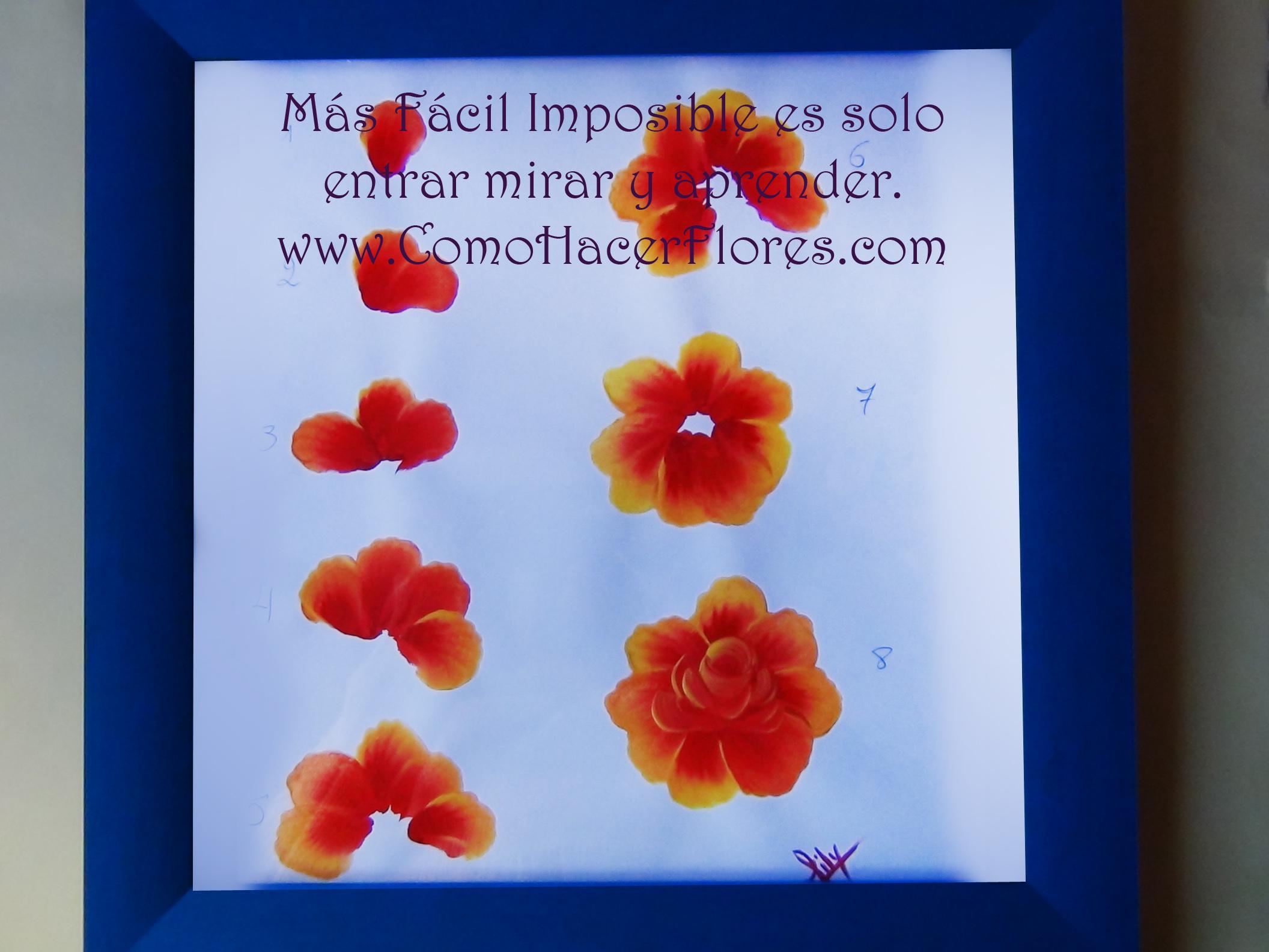 Como pintar flores imagui - Pintar con acrilicos paso a paso ...